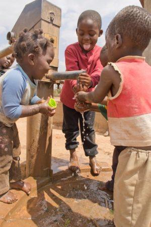 Children playing in Malawi