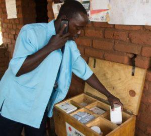 HSA sorting medicines in drug box